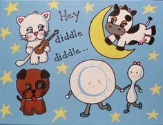 Nursery rhyme collection 30cm x 40cm $45