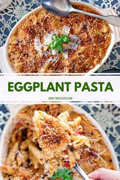 This Eggplant Pasta is seriously one of the best pasta dishes, vegetarian-friendly and easily made in your Instant Pot. Vegetarian Pasta Dishes, Best Pasta Dishes, Healthy Pasta Recipes, Entree Recipes, Vegetarian Recipes, Ovo Vegetarian, Veg Recipes, Eggplant Recipes Pasta, Chicken Eggplant