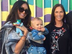 """""""Clone wars"""" Megan Fox captioned the photo with her youngest son Journey River Green and her own mother, Gloria."""