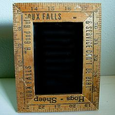I think mom and grandma still have a bunch of those old rulers around.  Great repurpose idea.