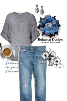 Брошь из кожи змеи. Синий цвет от Nataly Bulatova - trendme.net Polyvore, Fashion, Moda, Fashion Styles, Fashion Illustrations