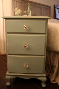 Duck Egg Chalk Paint Night Stand