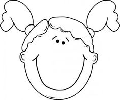 Pics For > Cartoon Girl Face Black And White Free clip art Graphic design art Girl face