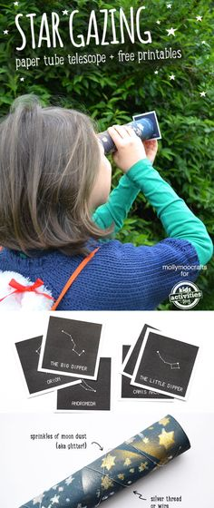 Transform a paper towel roll into a telescope and learn real constellations with these cute printables!