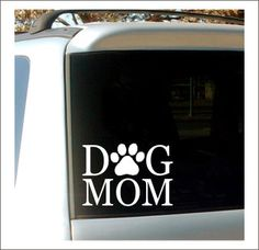Hey, I found this really awesome Etsy listing at https://www.etsy.com/listing/249370260/dog-mom-decal-car-decal-vinyl-decal-dog