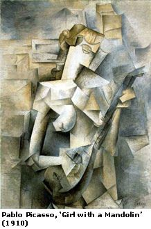 "Pablo Picasso, ""Girl with a Mandolin"""