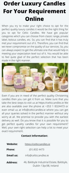 When you try to make your right choice to opt for the perfect quality luxury candles it would be the right thing for you to opt for Celtic Candles. Luxury Candles, Best Candles, Candles Online, Finding Yourself, Make It Yourself, Things To Come, Good Things, Private Label, Candle Wax