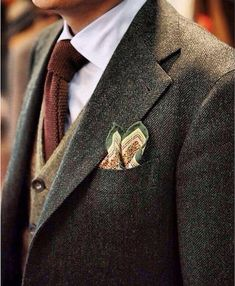 Menswear Terminology [An Easy-to-Read Visual Guide] - Herren- und Damenmode - Kleidung Sharp Dressed Man, Well Dressed Men, Tweed Suits, Mens Suits, Tweed Men, Blazer En Tweed, Fashion Moda, Mens Fashion, Fashion Suits