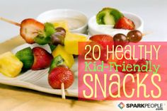 20 Nifty, Nutritious Snacks for Kids via @SparkPeople