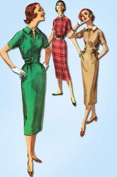 1950s Vintage Simplicity Sewing Pattern 2177 Uncut Misses Easy Dress Size 11 31B