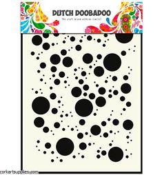 Items similar to Bubbles - Stencil - Mask - Dutch Doobadoo - - Mixed Media - Altered Art - Laser Cut Plastic - Mixed Media on Etsy Sponge Rollers, Laser Cut Stencils, Mixed Media Journal, Masks Art, Paint Cans, Distress Ink, Pigment Ink, Light Art, Altered Art