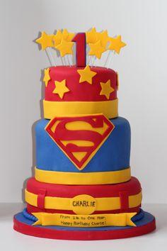 Superman Cake (icing Smiles)