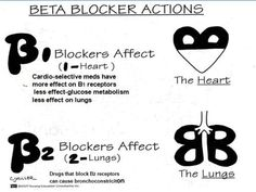 Beta Blockers (cardiovascular medication).B1- affects the heart (heart is 1 organ)B2- affects the lungs (there are 2 lungs)