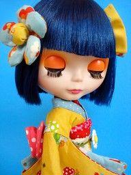Blythe Doll in kimono Brian Froud, Josephine Wall, Vladimir Kush, Carl Larsson, Pretty Dolls, Beautiful Dolls, Geisha, Beatrix Potter, Kay Nielsen