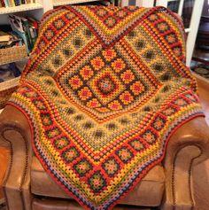 Ravelry: Project Gallery for Wendy Blanket pattern by Wendy de Haas Crochet Bedspread, Crochet Quilt, Crochet Blocks, Crochet Motif, Granny Square Crochet Pattern, Crochet Squares, Crochet Granny, Crochet Blanket Patterns, Granny Squares