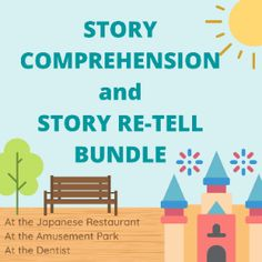 Boom Cards - Story Comprehension and Re-telling Why Questions, This Or That Questions, Amusement Park, Speech Therapy, Comprehension, Sentences, Language, Author, Student