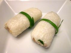 Lemper Ayam:  Indonesian Sticky Rice Rolls.  Glutinous rice wrapped around sweet and savory chicken,.then wrapped/steamed in banana leaf.  Perfect for our road-trips!