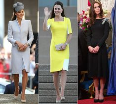 Kate Middleton's dovegrey McQueen coatdress triumphs in tour vote