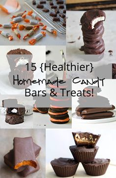 15 Homemade candy bars and treats are simple to make and taste just as delicious as your favorite store bought sweet! #candy #chocolate #candybars