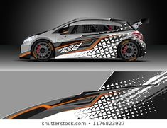 Podobne obrazy, zdjęcia stockowe i ilustracje wektorowe: Car wrap graphic vector. Abstract stripe racing background kit designs for wrap vehicle, race car, rally, adventure and livery — 1177072393 Car Stickers, Car Decals, Truck Accesories, Car Paint Jobs, Hatchback Cars, Bike Engine, Mini Bus, Car Tuning, Car Painting