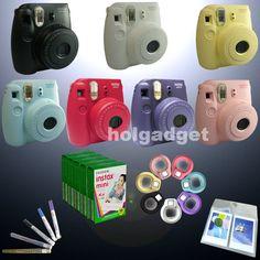 Fuji Instax Mini 8 Camera Fujifilm Instant Photo / Film / Close Up Lens / Pen
