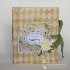 Mother's notebook. Soft province colors, textile cover.