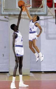 Spudd Webb and Manute Bol #nba