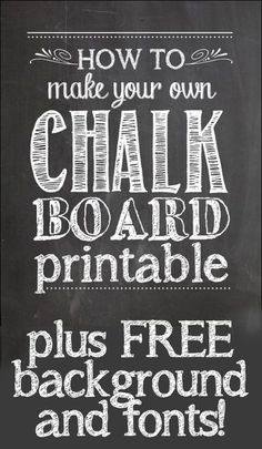I want to learn how to make my own chalkboard Christmas cards!!! how-to-make-chalkboard-printables-479x600
