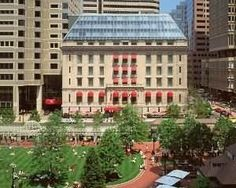 The luxurious Boston Langham Hotel.  Home of the famous Chocolate Buffet!!!!