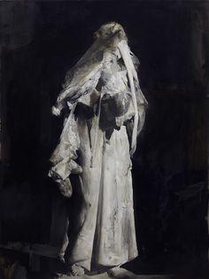 intremite:  La Vertigine, Nicola Samori, 2012 (Oil on linen, 200x100cm)