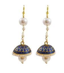 Meenakari Enamelling with Pearl Strings, Fish-hook Closure, Brass Material, Anti-allergic, Impeccable finish