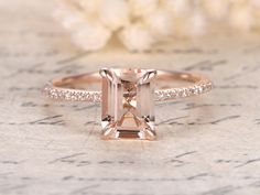 Image result for emerald cut engagement rings