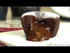 Schokoladenkuchen mit flüssigem Kern - Weihnachtsnachtisch - YouTube