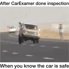 Funny Car Videos, Funny Videos For Kids, Funny Video Memes, Really Funny Memes, Comedy Pictures, Mobile Mechanic, Foam Slime, Mechanic Humor, Vehicle Inspection