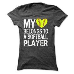 My heart belongs to a SOFTBALL player