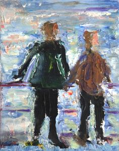"Saatchi Online Artist: yvonne jones; Oil, 2002, Painting ""St Ives series 2 (2)"""
