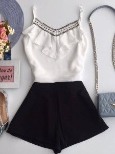 Read 4 from the story Looks para sua História! Cute Summer Outfits, Short Outfits, Spring Outfits, Cute Outfits, Casual Summer, Summer Dresses, Casual Chic, Casual Wear, Casual Outfits