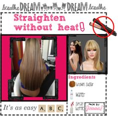"""""""How to straighten your hair without using heat."""" by the-hipster-tipsters on Polyvore"""