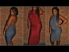 How To: DIY Easy Drape Dress - YouTube