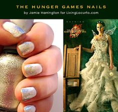 The Hunger Games Nail Art Tutorial Inspired by Katniss Everdeen @Amy Locurto   LivingLocurto.com.com