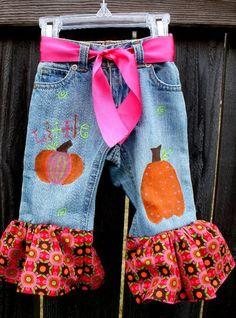 Little Pumpkin Painted Jeans
