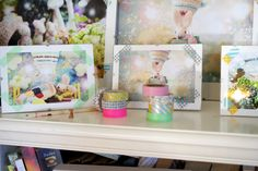 washi tape on pictures