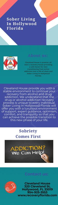 Cleveland House provide Sober Living In Hollywood Florida. We offers a beautiful and unique environment in which to begin the transition into a new sober life. Our men's facility are designed to provide continued support for individuals in recovery with structured daily schedules and regular drug and alcohol testing. If you're looking for a fresh start, Please contact us.
