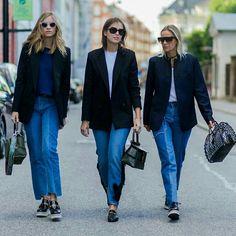 Trio fashion: jeans com blazer @stylesightspotlight