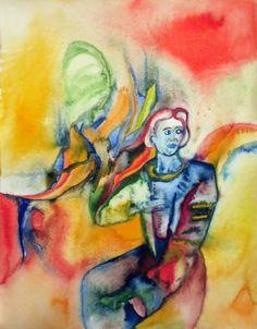 "Saatchi Art Artist Mathias Schneider; Painting, ""Sitting Man, Talking to Others"" #art"