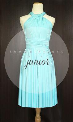 Junior Size Short Straight Hem Tiffany Blue by thedaintyard