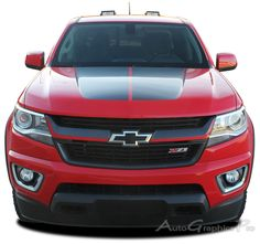 """2016-2017 Chevy Colorado """"CRESTONE"""" Grill Accent Vinyl Graphics Stripes Kit Vinyl Graphic Stripe Decal Kits Vehicle Specific Accent Striping Decals Packages 