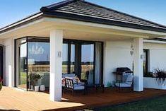 Dom w bodziszkach Modern Bungalow House, Modern House Design, Design Case, Farmhouse, Patio, Outdoor Decor, Home Decor, Projects, Collection