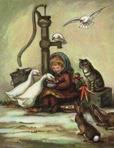 Tasha Tudor Christmas Card