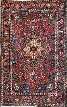 "Mint Condition Antique Persian Bakhtiari Rug - ""the rug really pulls the room together"" ~ The Big Lebowski"